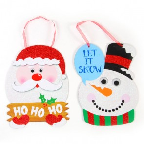 Christmas Glitter Plaques