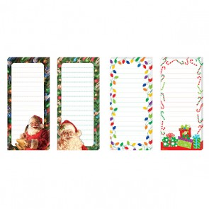 Long Christmas Memo Pad with Magnet - Assorted