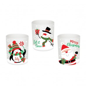 Christmas Votives with Gemstones by Holiday Essentials