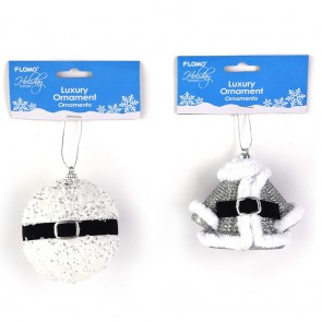 Santa Coat and Snowball Ornaments by Holiday Essentials