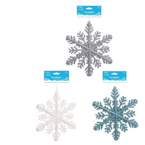 Glitter Snowflake Decoration by Holiday Essentials