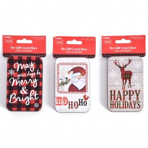 Plaid Christmas Gift Tins by Holiday Essentials