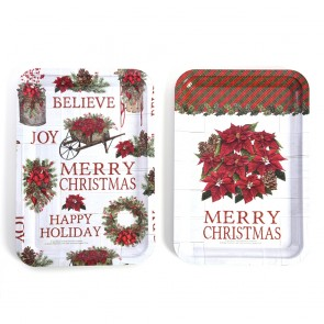 Christmas Rectangle Tin Tray by Holiday Essentials