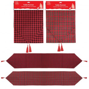 Plaid Christmas Table Runner by Holiday Essentials