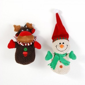 FLOMO Christmas Snowman and Reindeer Plush Pet Toys