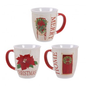 Classic Traditional Christmas Mugs by Holiday Essentials