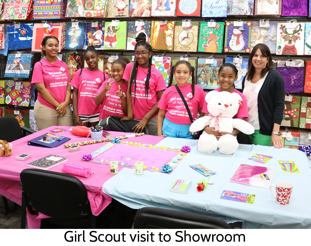 Girl Scouts visit Glitzzie Showroom to learn about running a business