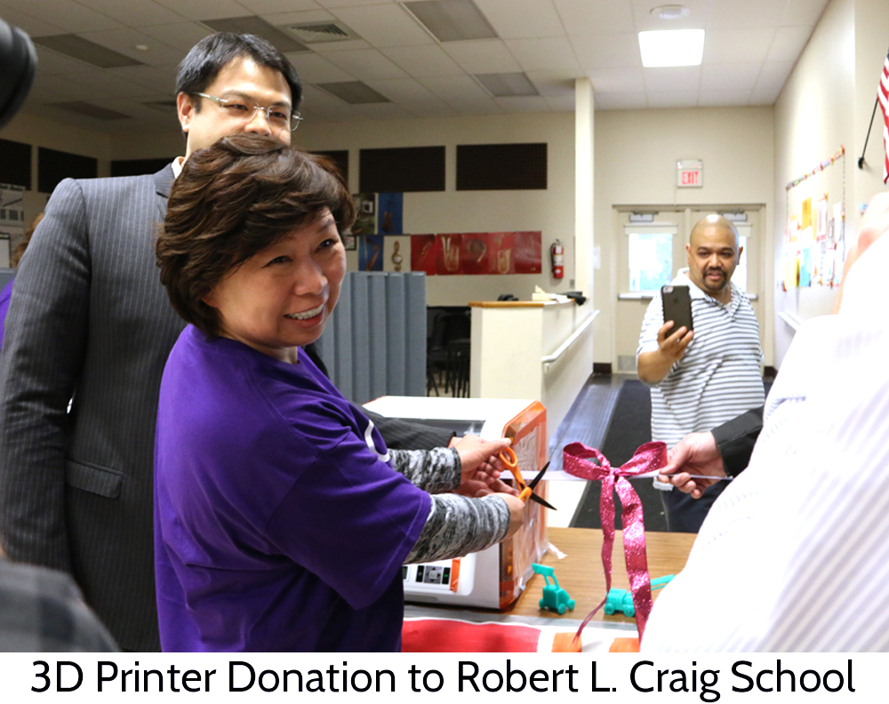 Wendy donates 3d printer to moonachie new jersey school
