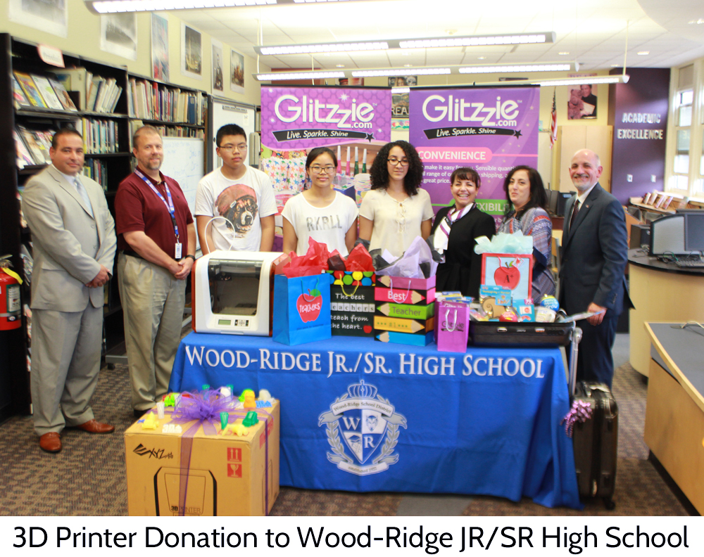 Glitzzie donates 3d printer to Wood-ridge high school
